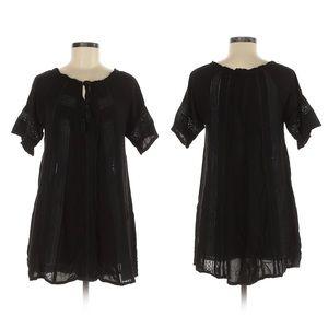 Lagaci boho short black dress